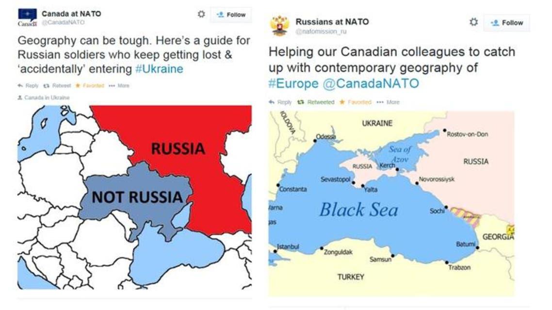 Russia Canada missions to NATO tweets (Al Arabiya News)