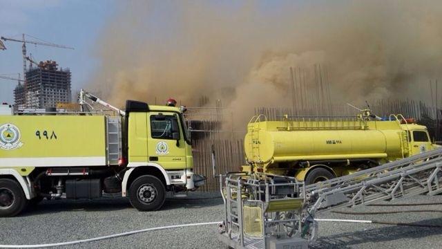 حريق توسعة الحرم