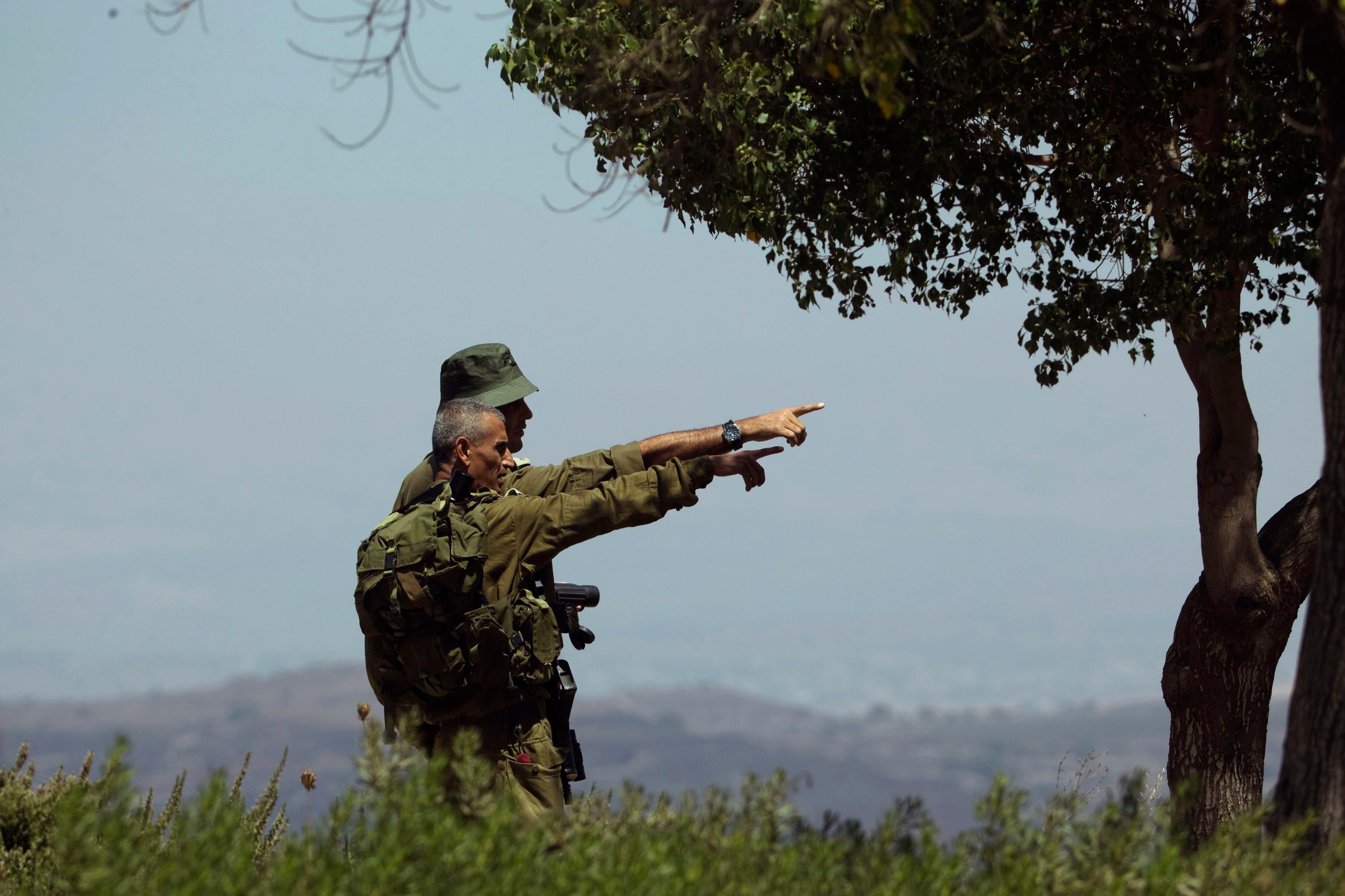 دو سرباز اسرائیلی در بلندیهای اشغالی جولان