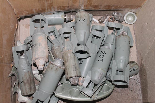 Syria cluster bombs (HRW)