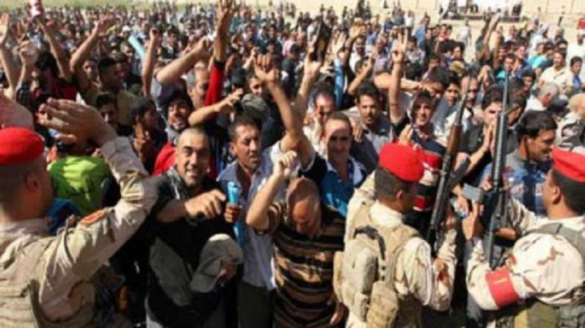 استقبال اهالي آمرلي لقوات الجيش