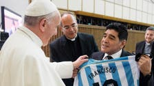 Maradona steals show from fellow Argentine Pope Francis