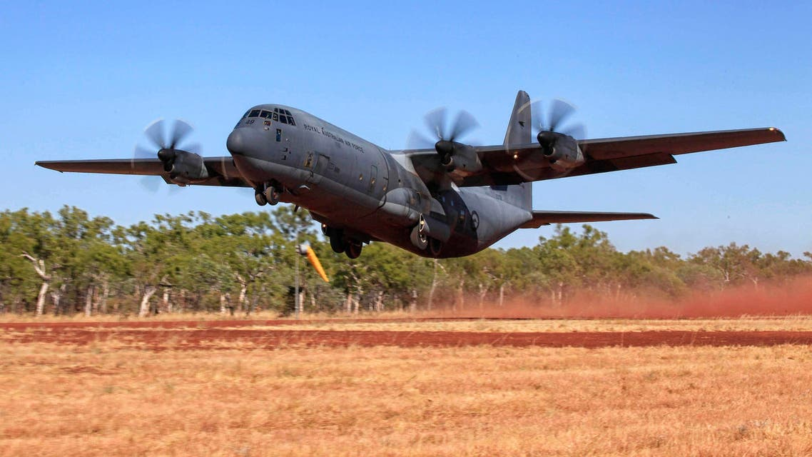 A C-130J Hercules aircraft takes off from Delamere Range Facility in the Northern Territory during Exercise Pitch Black 2014 in this picture released by the Australian Defence Force August 14, 2014. (Reuters)
