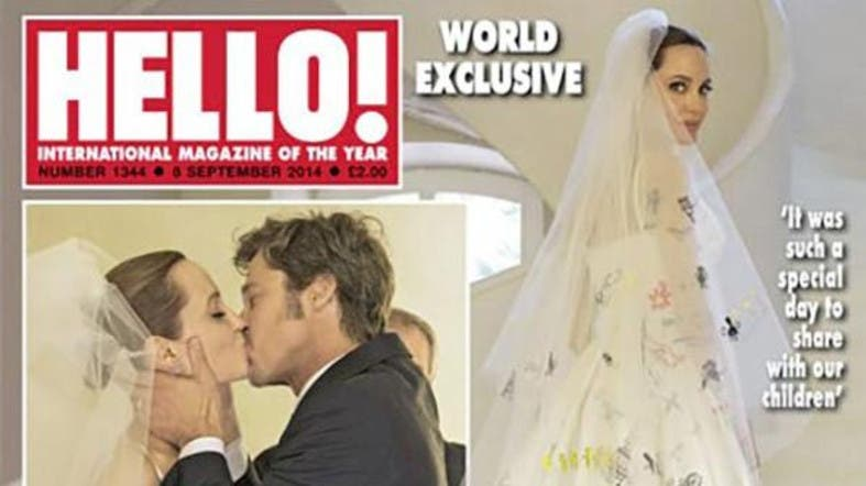 First pictures of Angelina Jolie\'s wedding dress revealed - Al ...