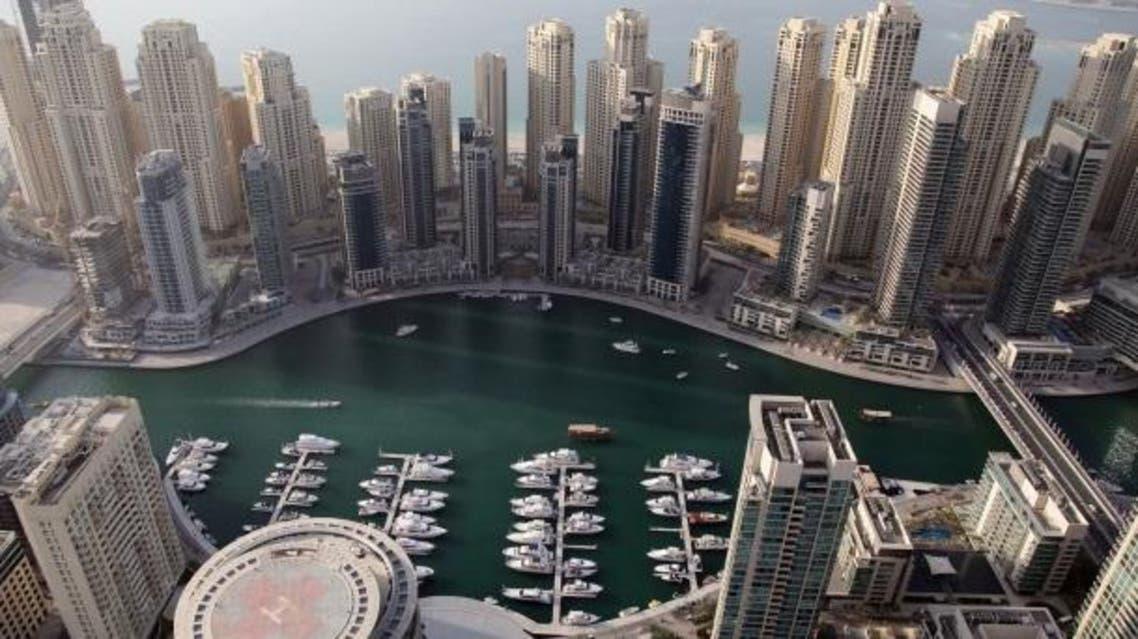 An image taken from Burj Khalifa, the world's tallest skyscraper, on May 21, 2013, overlooking Dubai. (AFP/Marwan Naamani)