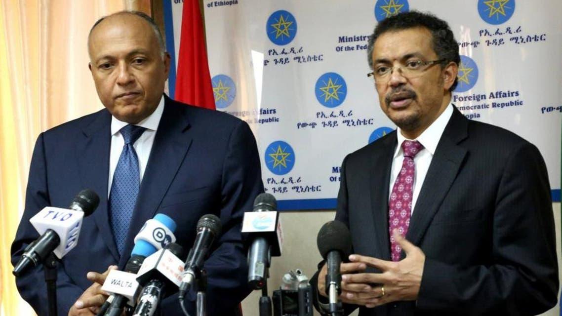 وزير الخارجية المصري سامح شكري ونظيره الأثيوبي