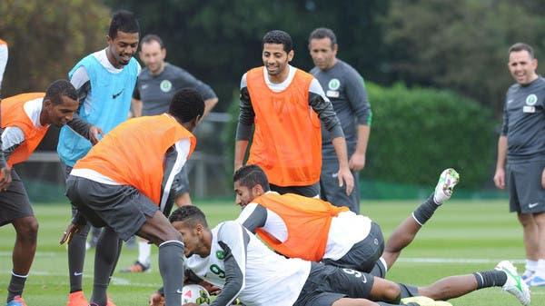 جانب من تدريبات المنتخب السعودي قبل مواجهة الأستراليين