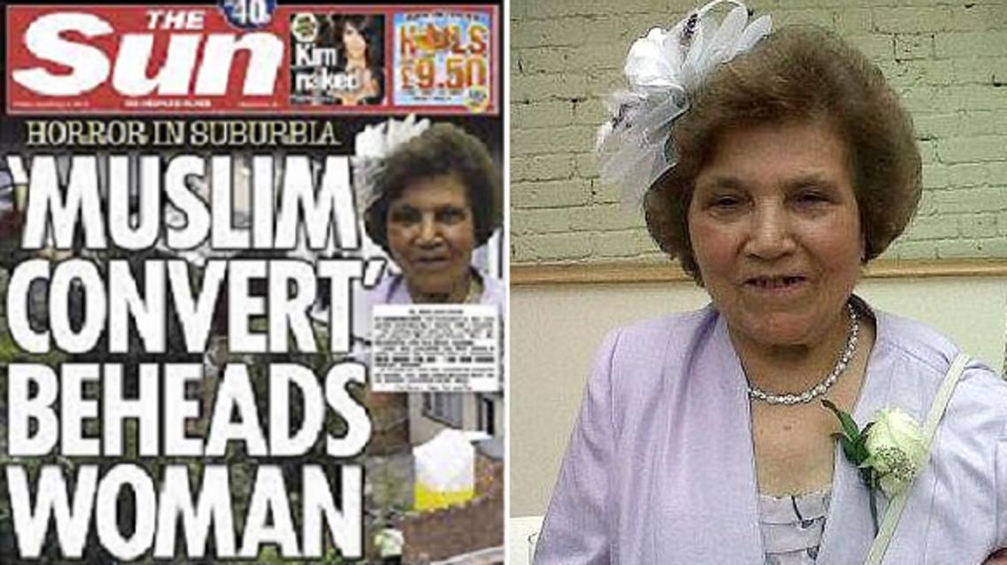 """الذبيحة، وصفحة """"الصن"""" تركز على اعتناق قاطع رأسها للاسلام"""