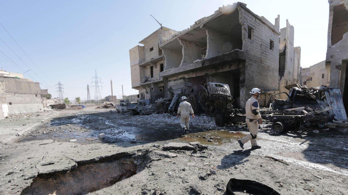 قصف البراميل المتفجرة على حلب