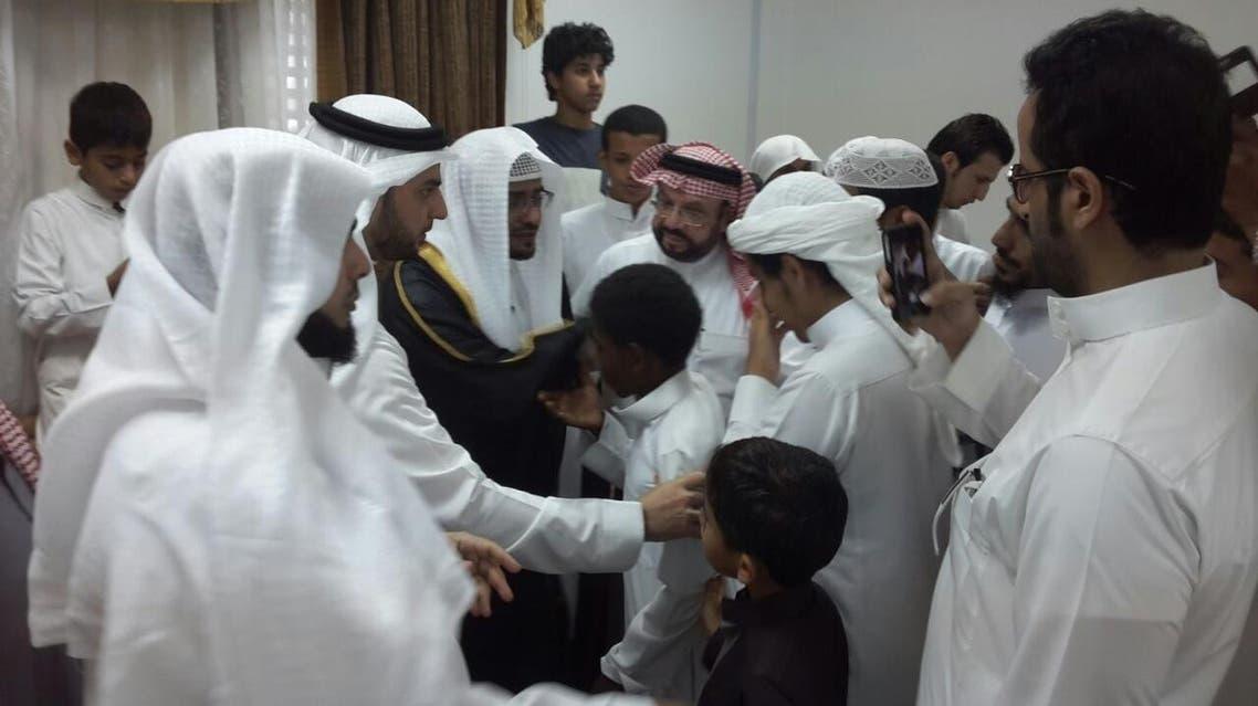 الشيخ صالح المغامسي وسط حضور كثيف
