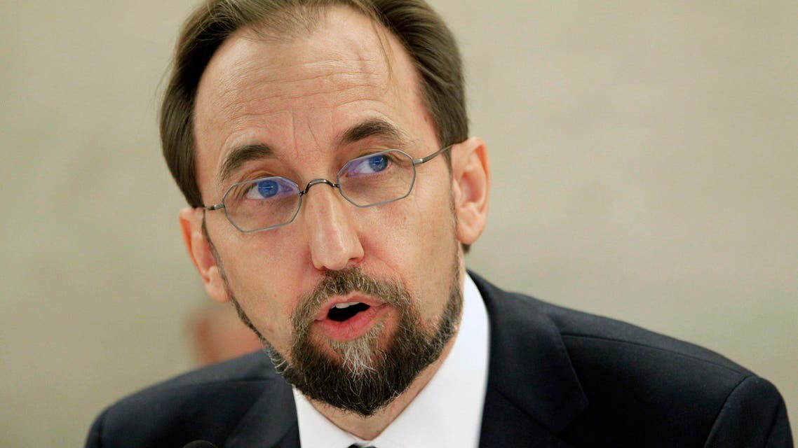 Newly appointed U.N. High Commissioner for Human Rights, Jordan's Prince Zeid Ra'ad Zeid al-Hussein speaks at the Human Rights Council at the United Nations Europeans headquarters in Geneva September 8, 2014. (Reuters)