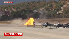 Helicopter crashes at Russian airshow