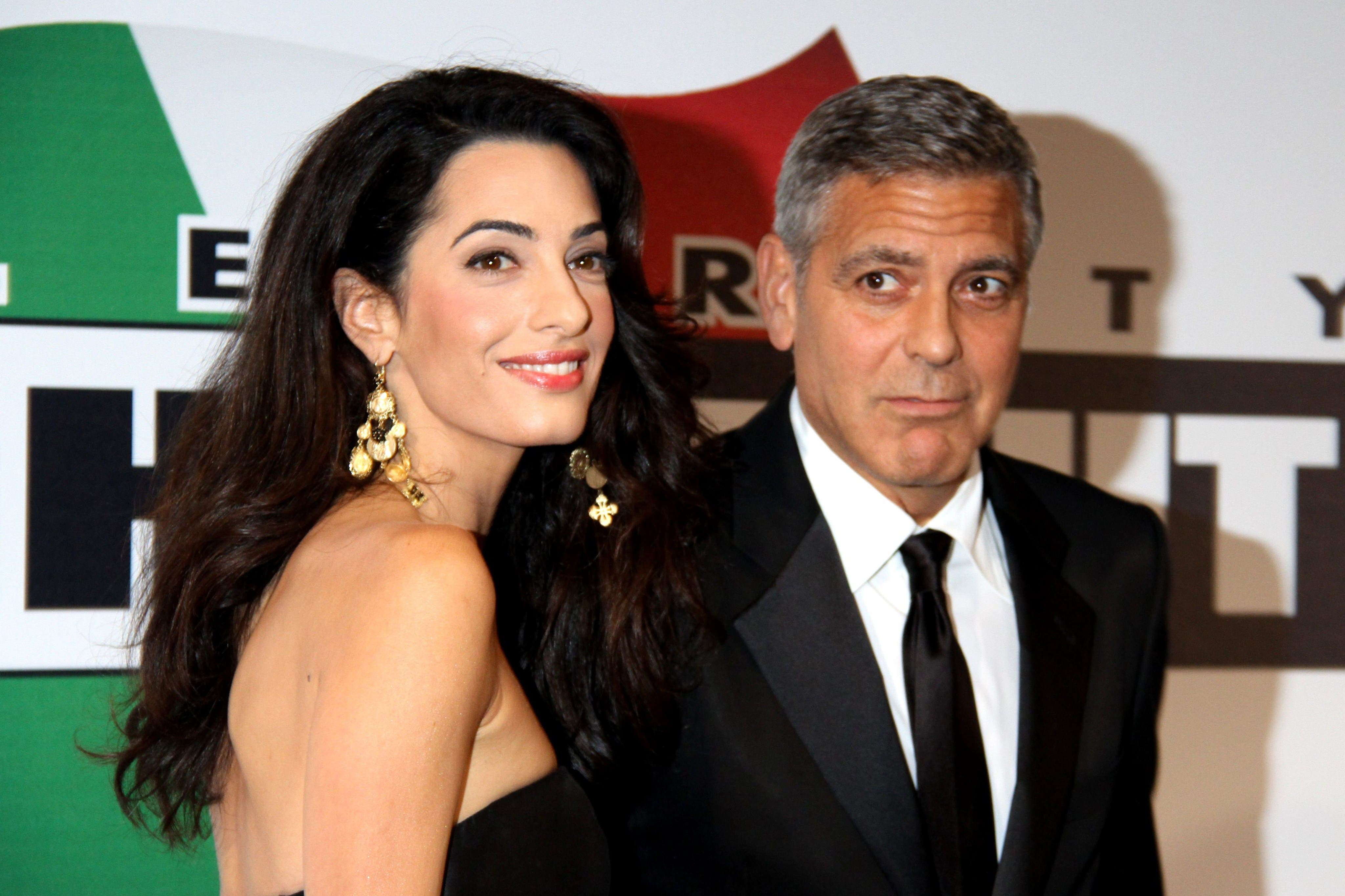 Amal Alamuddin George Clooney AFP