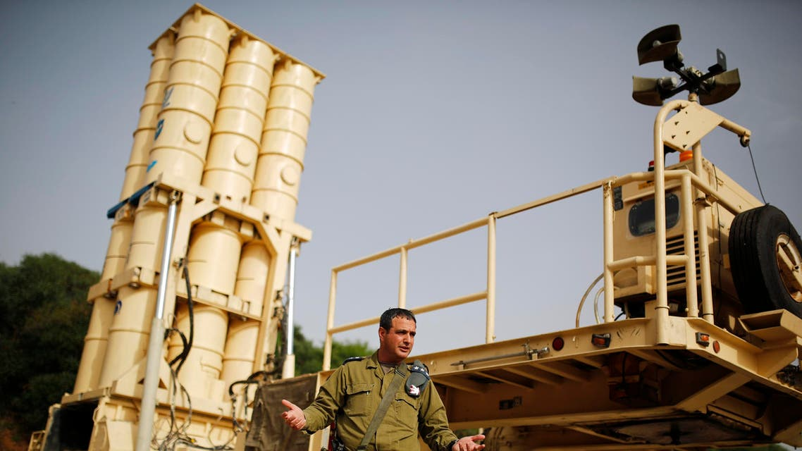 Colonel Zvika Haimovich of the Israeli air defence corps stands in front of an Arrow II battery, a U.S.-backed Israeli missile shield, during an interview with Reuters at his base in Palmachim, south of Tel Aviv May 29, 2013. (File Photo: Reuters)