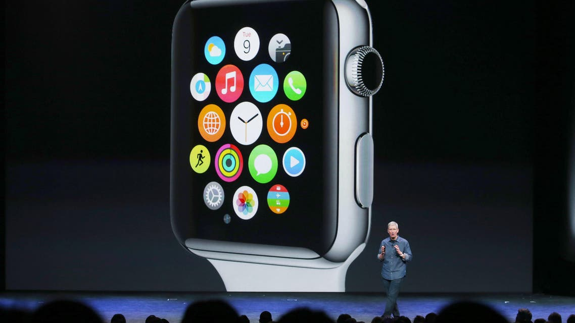 Apple CEO Tim Cook talks about the Apple Watch (AFP)