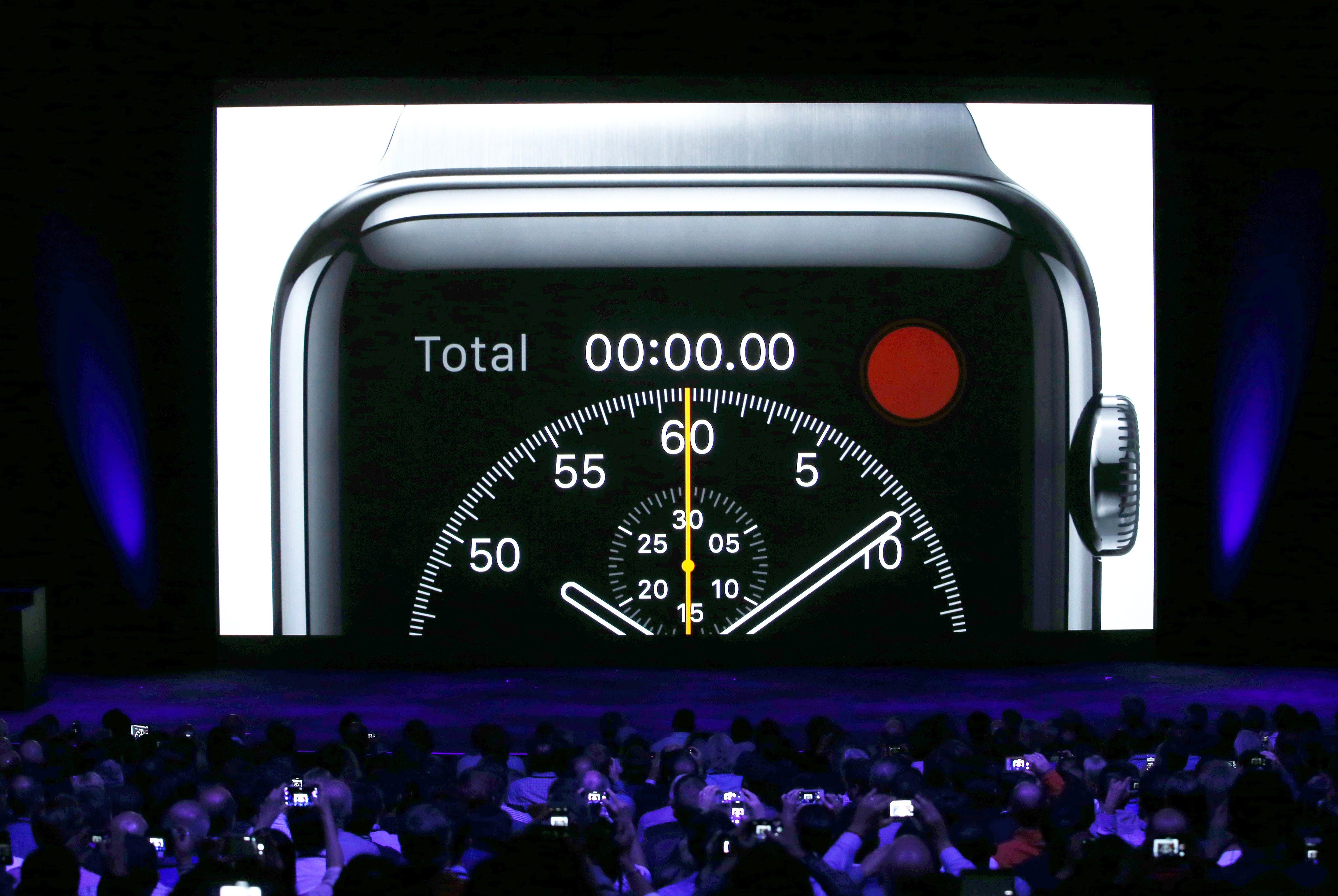 A video about the Apple Watch (AFP)