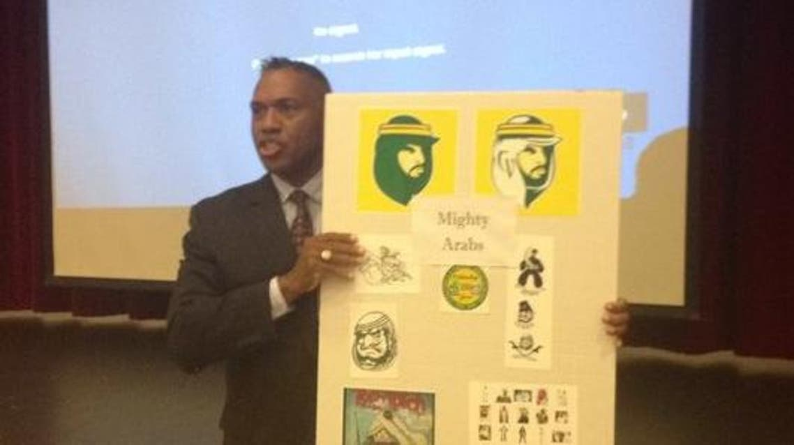 The new mascot was officially unveiled Tuesday night during a school board meeting in Thermal. Superintendent Darryl Adams discusses the change Tuesday. (Photo courtey of The Desert Sun )