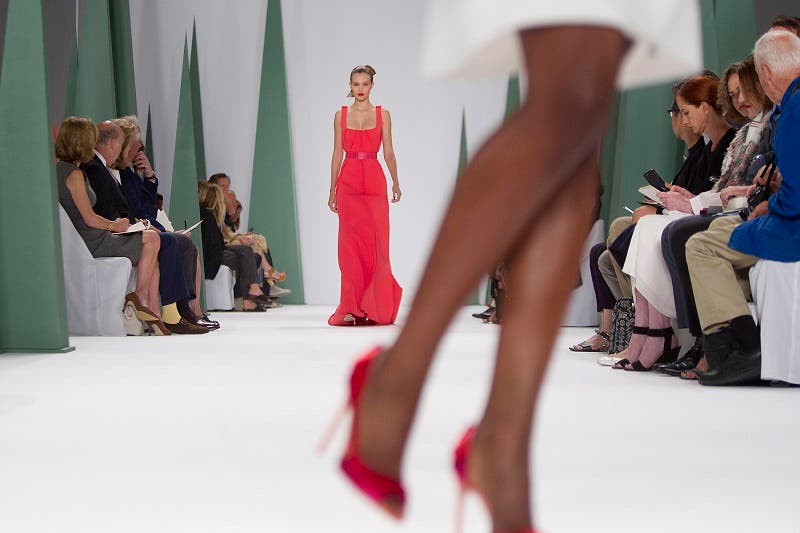 A model presents a creation during the Carolina Herrera Spring/Summer 2015 collection show during New York Fashion Week in the Manhattan borough of New York September 8, 2014. (Reuters)