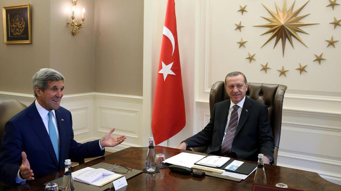 Erdogan meets Kerry (AFP)