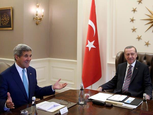 """كيري في تركيا لبحث التحالف ضد """"داعش"""""""