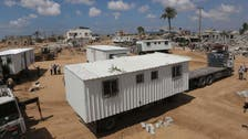 Bombed out Gazans move into mobile homes