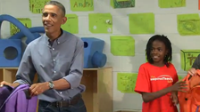 School girl to Obama: I thought you'd be Beyoncé