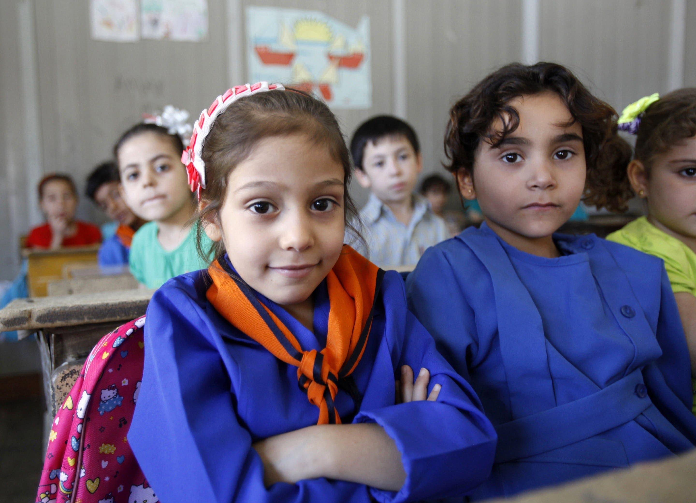 Syrian children go back to school