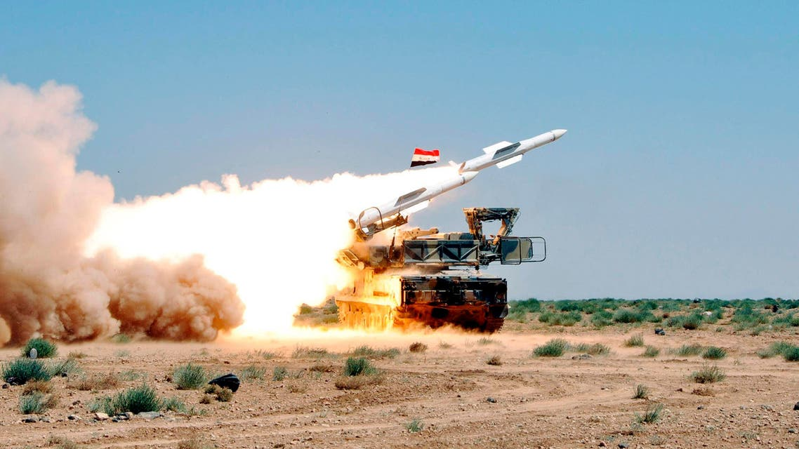 Syrian air defenses Reuters