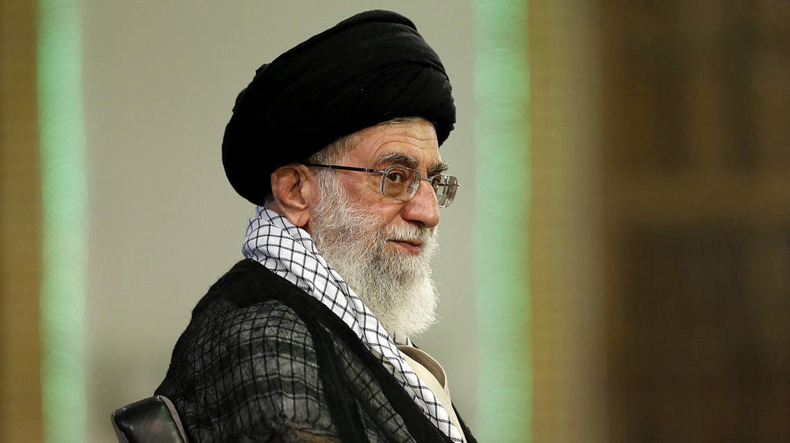 Ayatollah Ali Khamenei looks on during a meeting in Tehran on Sept. 7, 2014. (AFP)