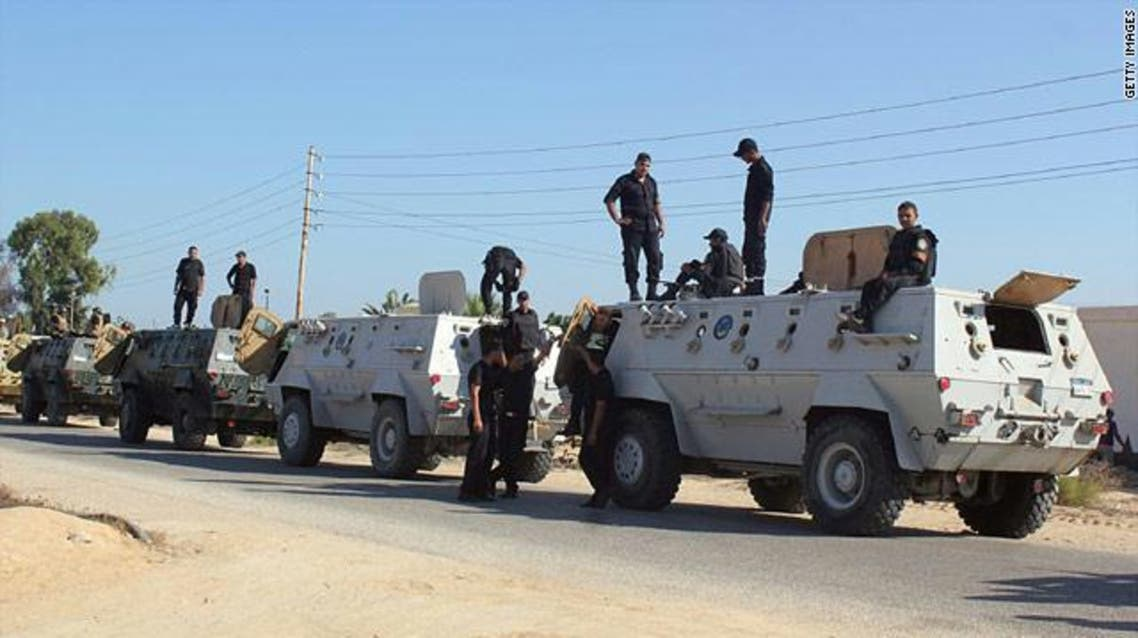 مقتل 6 شرطيين بانفجار استهدف مدرعتهم شمال سيناء