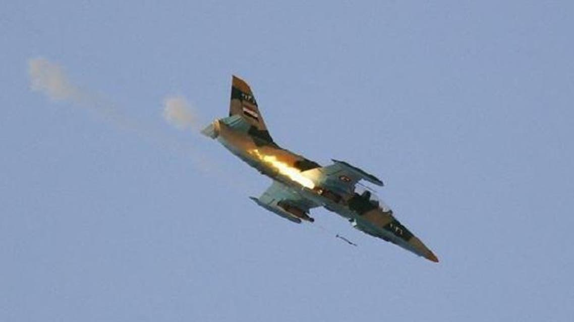 Syrian regime plane (Reuters)