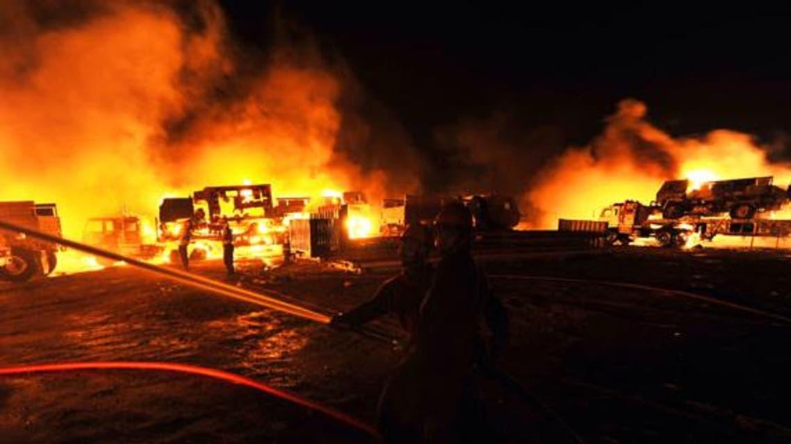 تانکرهای نفتی ناتو در آتش