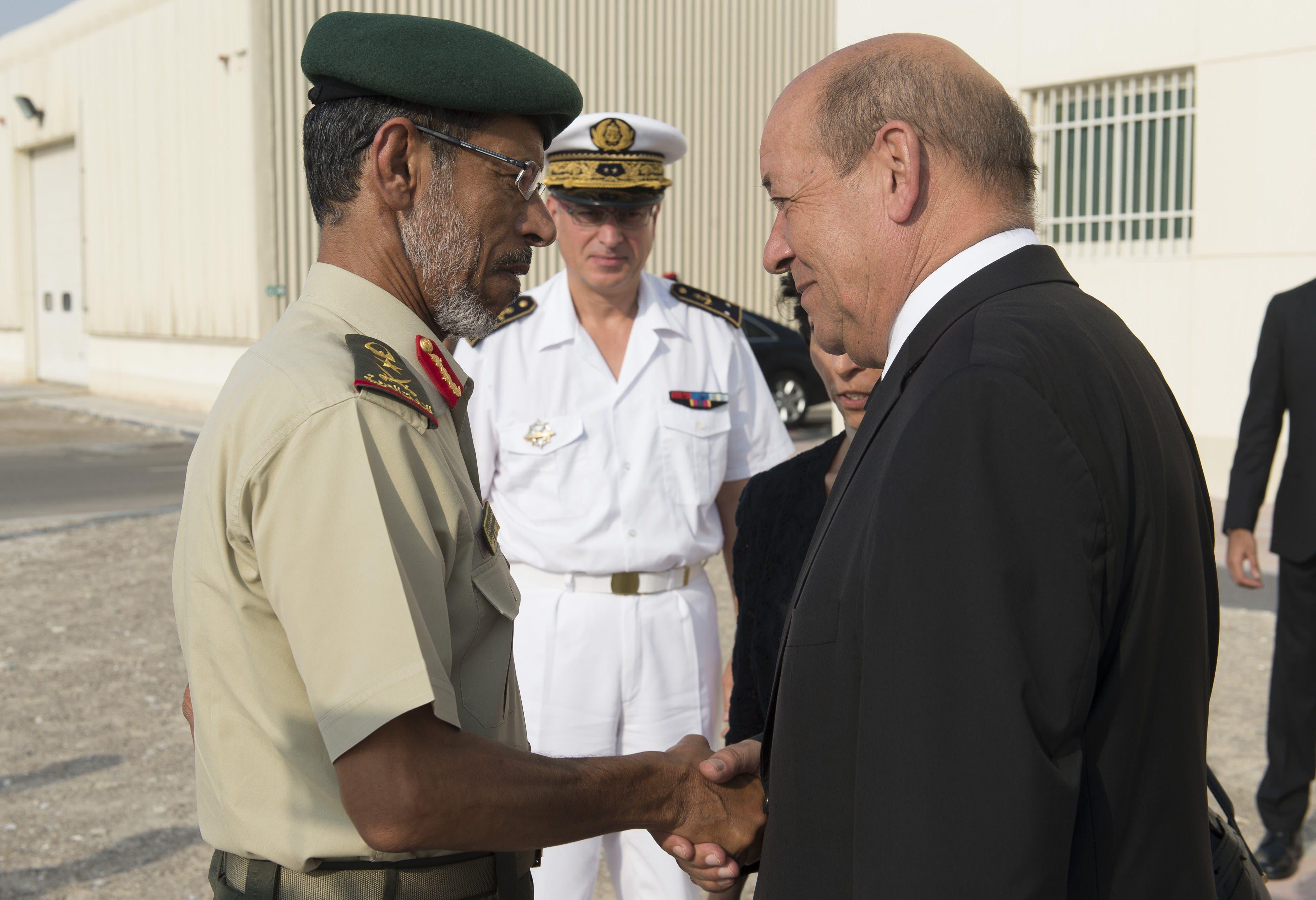 Franch defense minister AFP UAE
