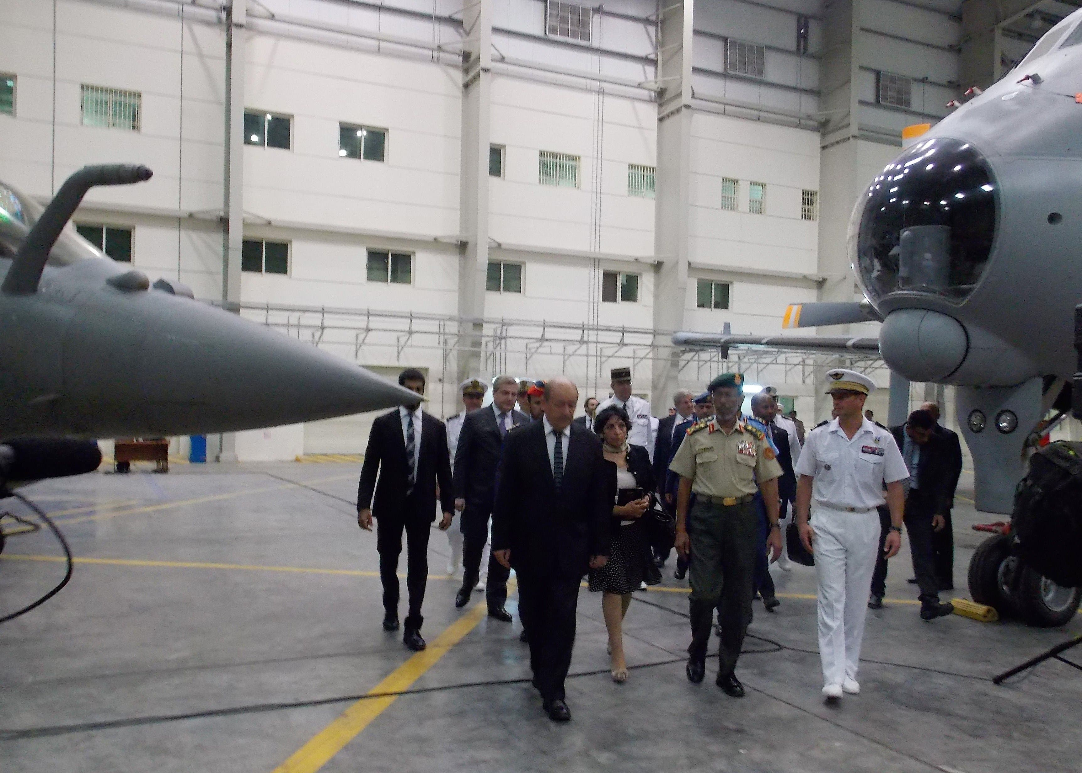 French Defence Minister in UAE AFP