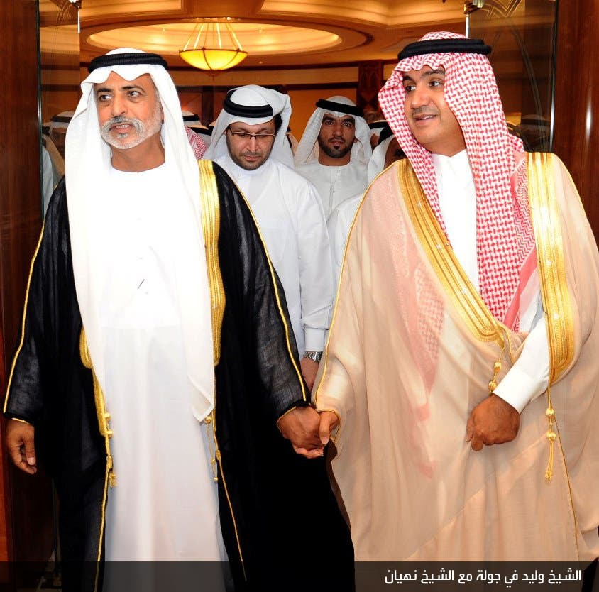 الشيخ وليد في جولة مع الشيخ نهيان