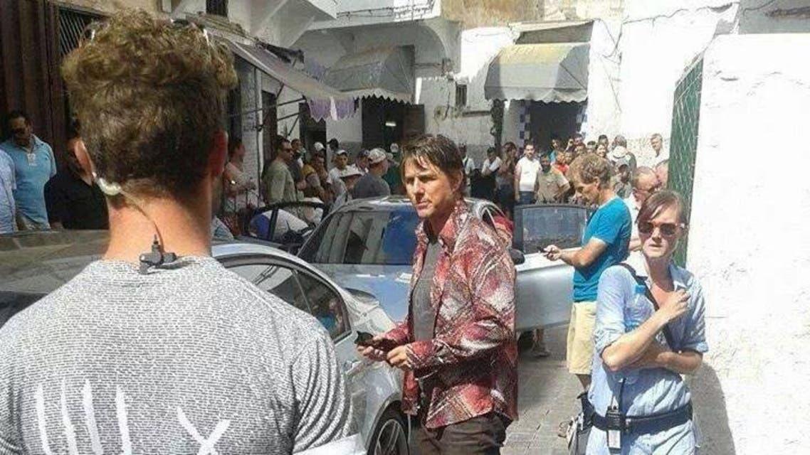 الصورة: الممثل السينمائي الأمريكي والعالمي طوم كروز في المغرب لتصوير مهمة مستحيلة