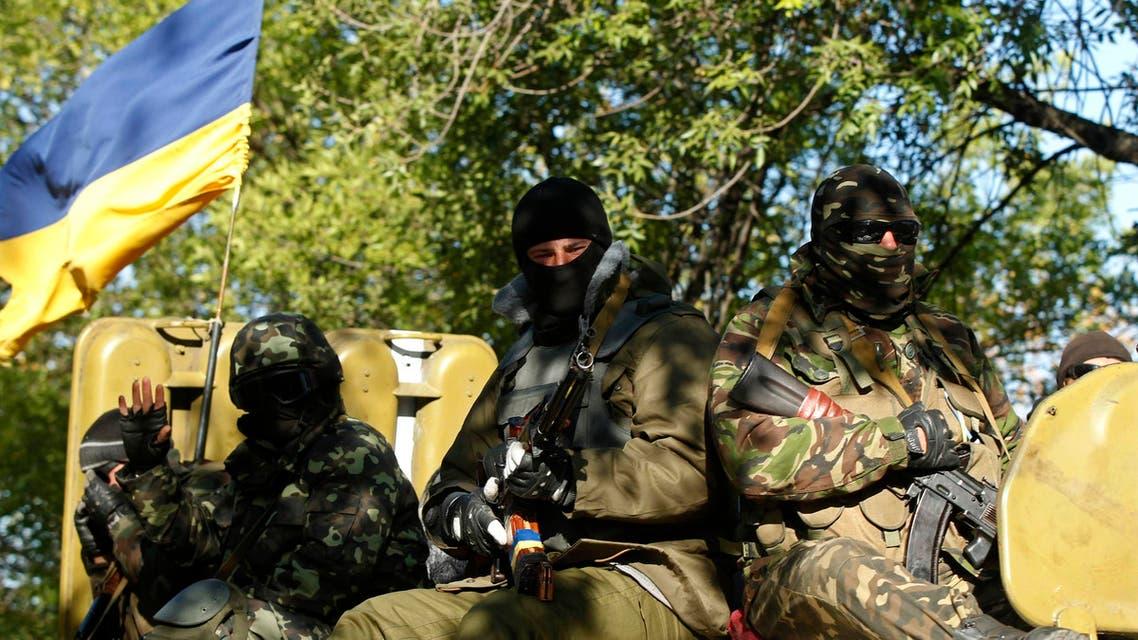 عناصر من الجيش الأوكراني جيش في أوكرانيا اكرانيا اوكرانيا روسيا انفصاليين