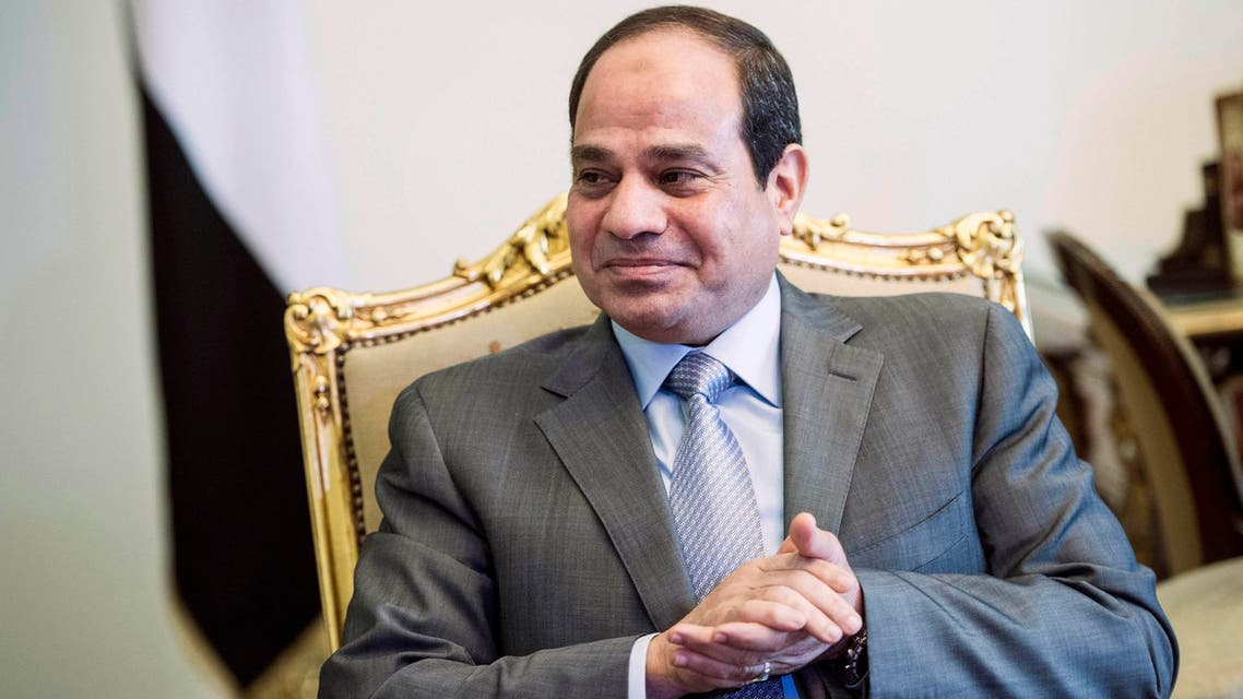 Egyptian President Abdel Fattah al-Sisi waits for a meeting with U.S. Secretary of State John Kerry at the presidential palace in Cairo September 13, 2014. (Reuters)