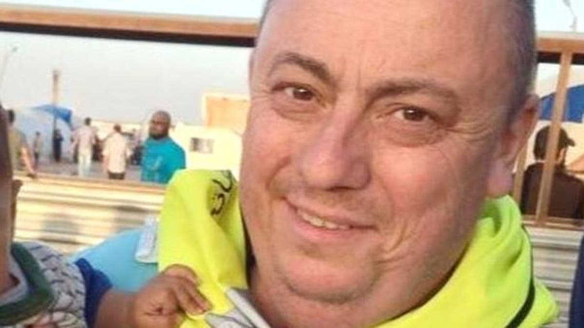 An undated handout photo released by the Foreign Office with the permission of his family, showing Alan Henning at a refugee camp on the Syrian-Turkish border. (Courtesy: FCO)