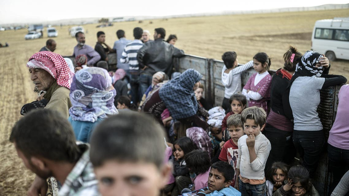 Syrian Kurds flooded into Turkey