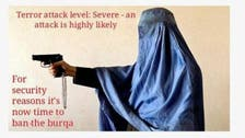 Backlash over Britain first's 'ban the burqa' poster