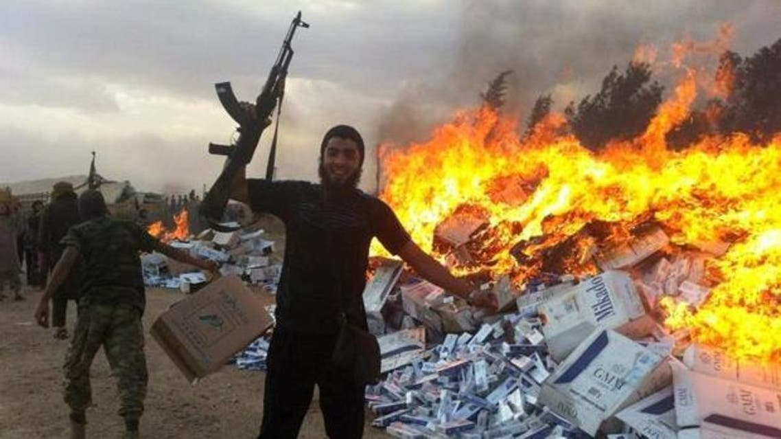 ISIS cigarettes smoking smokers (Photo courtesy: The Times)