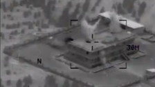 Video shows U.S. airstrike destroying ISIS compound in Raqqah
