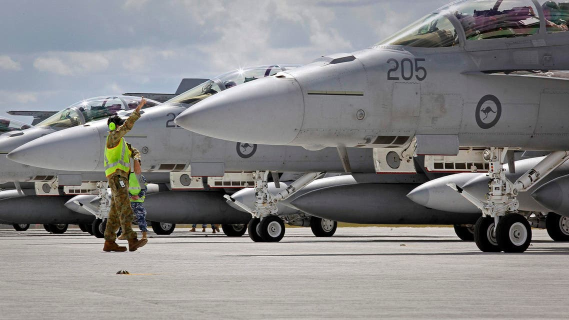 US Air Force A-10 fighters stand in line  AFP