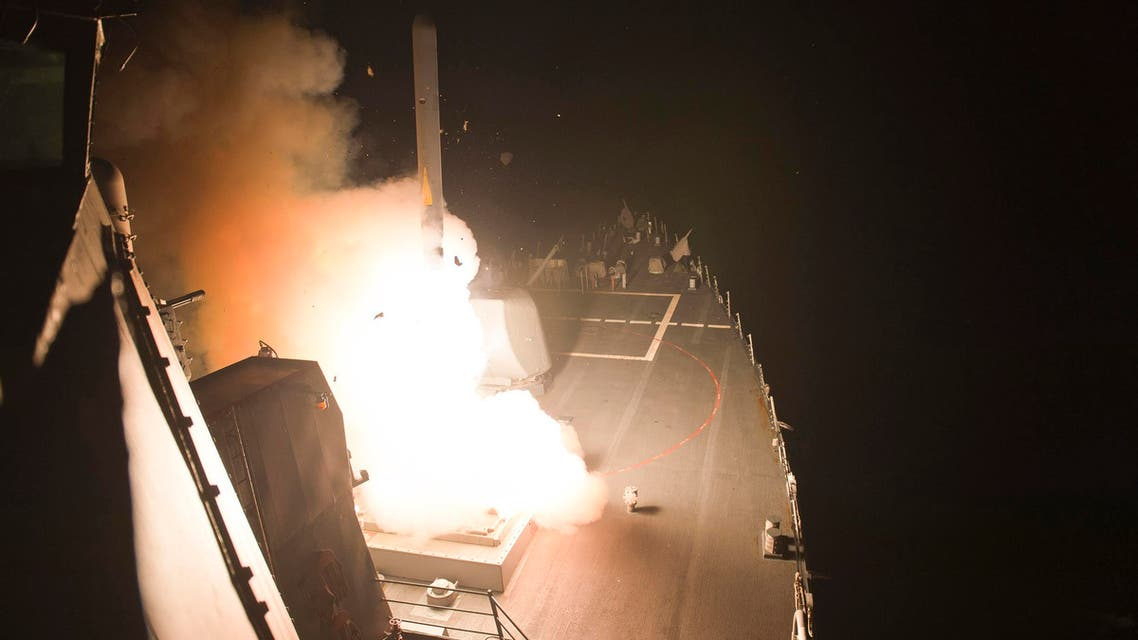 The guided-missile destroyer USS Arleigh Burke (DDG 51) launches Tomahawk cruise missiles while conducting strike missions against ISIL targets from the Red Sea, in this handout photograph taken and released on September 23, 2014. Reuters