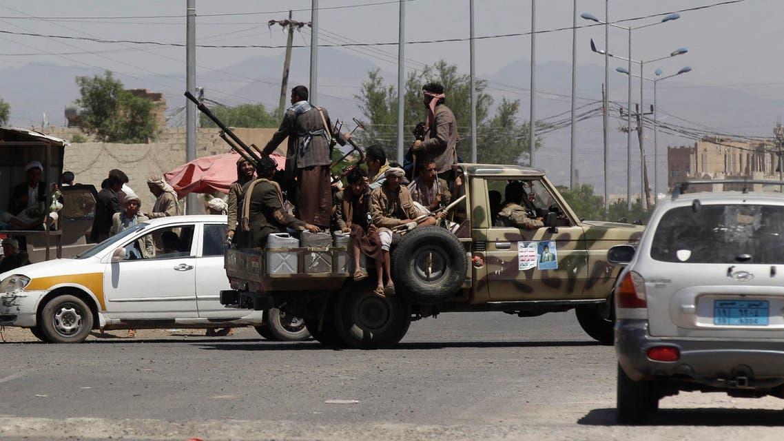 عناصر من الحوثيين حوثيين حوثيون في اليمن صنعاء