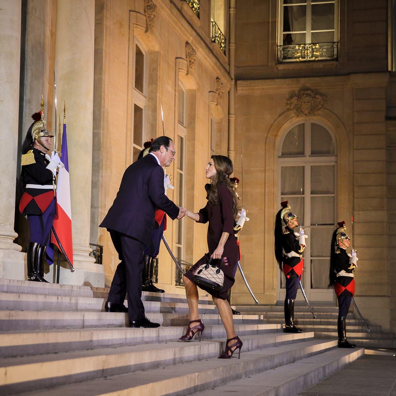 عشاء رسمي على شرف الملكة رانيا العبدالله في الإليزيه