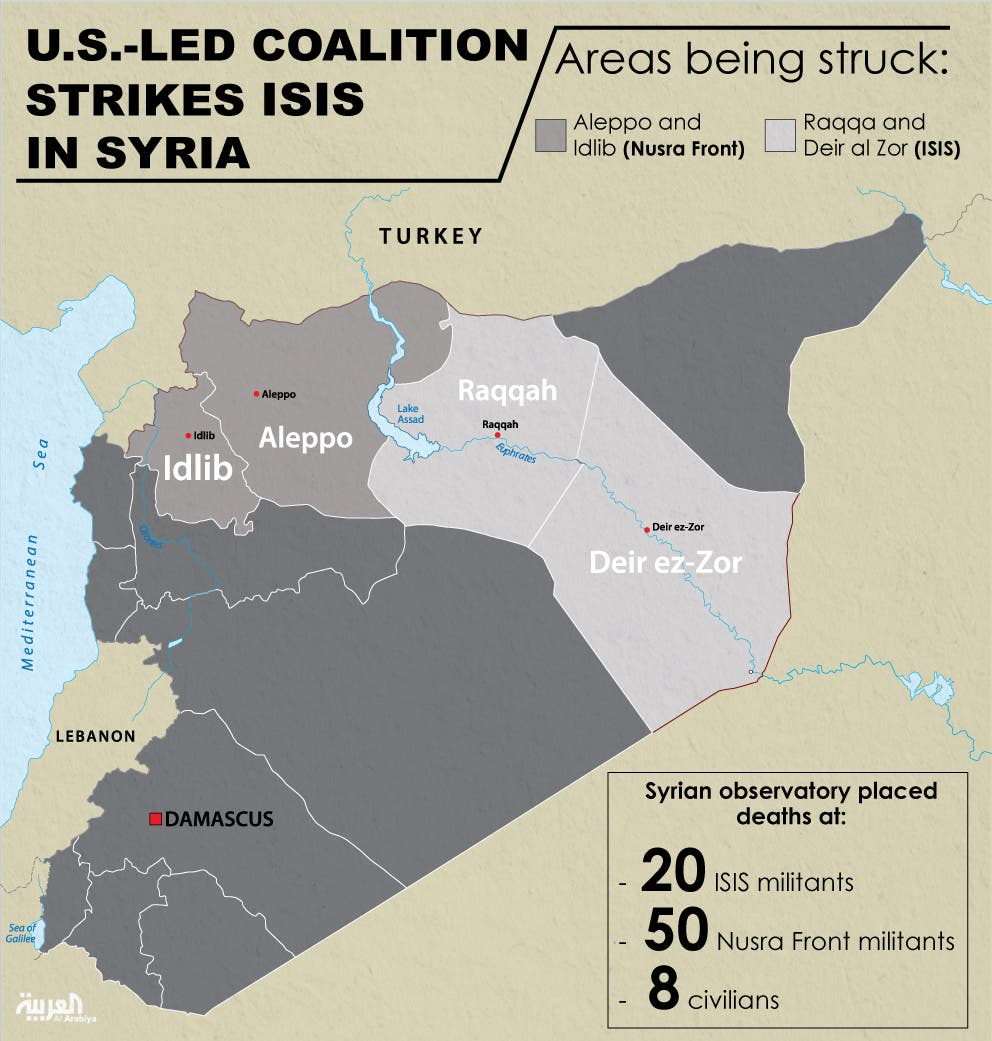 Infographic: U.S.-led coalition strikes ISIS in Syria
