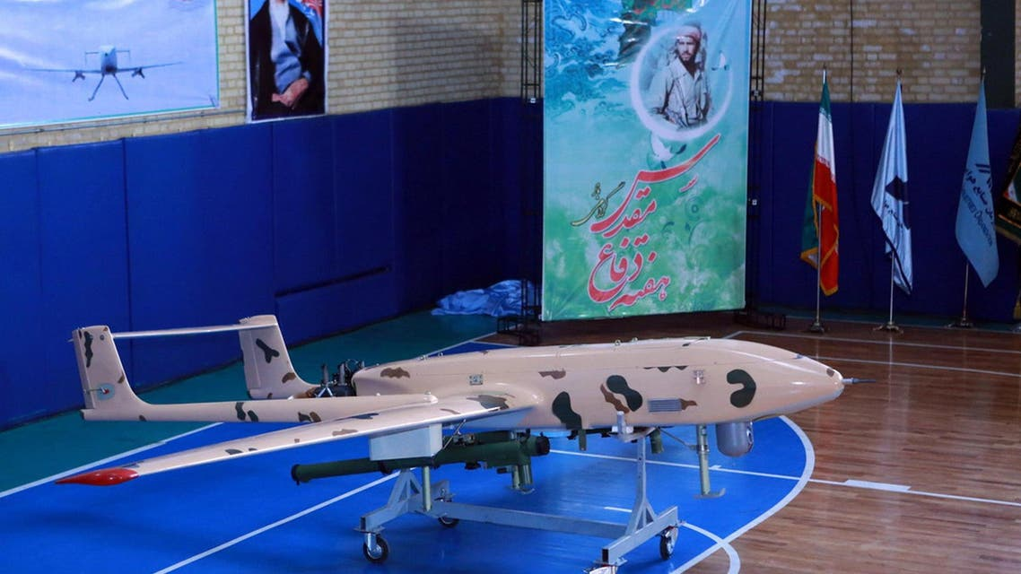 A handout picture released by the official website of Iran's Defence Ministry website on September 23, 2014, shows newly made drone during an unveiling ceremony in Tehran on September 23, 2014. AFP