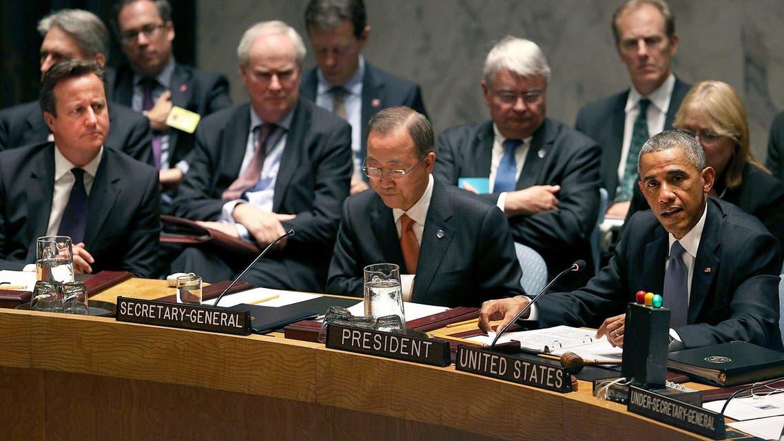 United Nations Obama Cameron Ban UN AFP